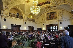Opening of the International Tourist Guide Day 2013 in the magnificent Ballroom of Halle's Town House