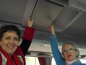 """Schulung """"Fahrsicherheit in Reisebussen"""" beim Bayer. Gästeführertag 2014 in Garmisch-Partenkirchen"""