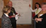 """Teilnehmer des Workshops """"Nachhaltige Gästeführungen"""" auf der JHV 2014 in Burghausen"""