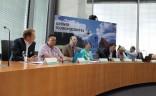 Teilnehmer des Podiums beim Grünen Tourismusgipfel im Juni 2015 in Berlin