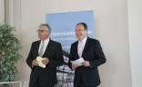 Dieter Hütte, DTV-Vorstandsmitglied und Peter Siemering, DTV-Vizepräsident beim Städte- und Kulturforum des DTV 2015 in Freudenstadt / Schwarzwald
