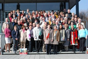 Die Teilnehmer des 1. Sächsischen Gästeführertages in Dresden im März 2015