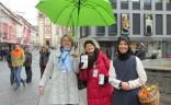 Mitglieder des Würzburger Gästeführer e. V. unter dem grünen BVGD-Schirm