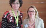 DTV-Geschäftsführerin Claudia Gilles im Gespräch mit BVGD-Vorstandsmitglied Sonja Wagenbrenner auf dem DTV Städte- und Kulturforum 2016 in Saarbrücken