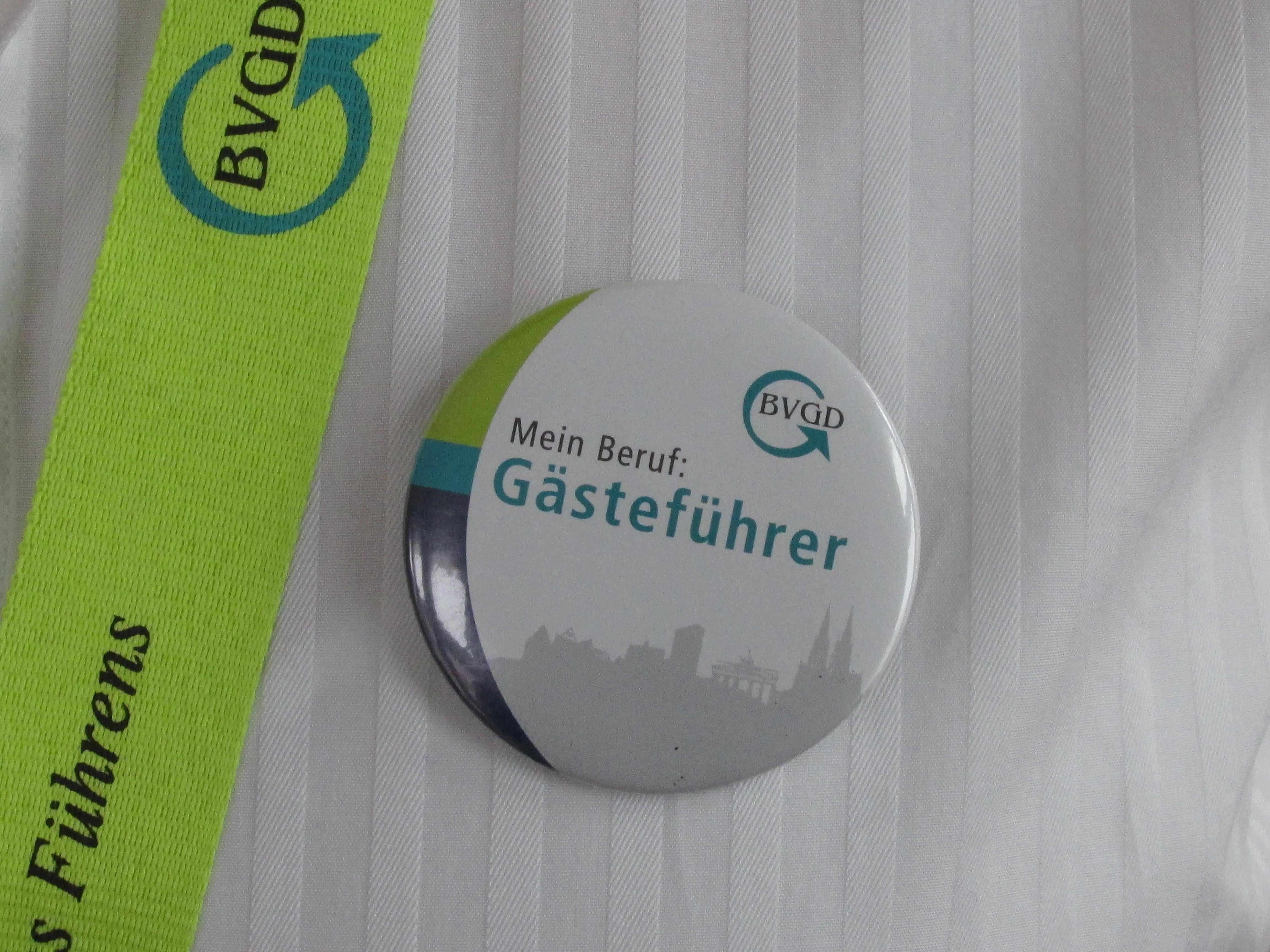 BVGD-Button - Mein Beruf Gästeführer