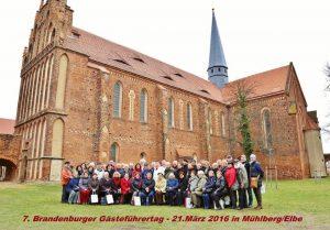 Die Teilnehmer des 7. Brandenburger Gästeführertags in Mühlberg an der Elbe 2016 (Foto: F. Winters)