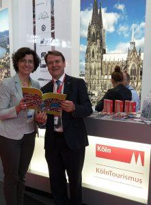 BVGD-Vorstandsmitglied Sonja Wagenbrenner und Josef Sommer, Geschäftsführer der Köln Tourismus GmbH