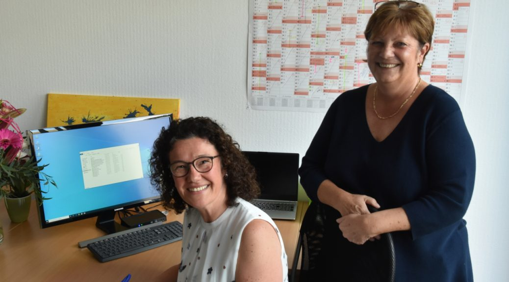 """Carolin Schuster, seit der Einrichtung die Leiterin der BVGD-Geschäftsstelle, und Petra Streller, neue Mitarbeiterin seit 2019, sind zufrieden: """"Eine deutlich bessere Arbeitssituation – viel effektiver!"""""""
