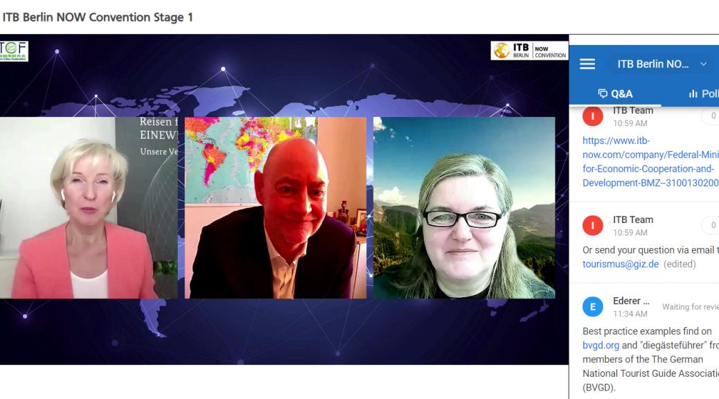 ITB Berlin NOW Reisen für eine Welt - unsere Verantwortung
